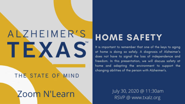 Zoom N' Learn: Keeping Your Loved One Safe- Home Safety, Driving, & Wandering