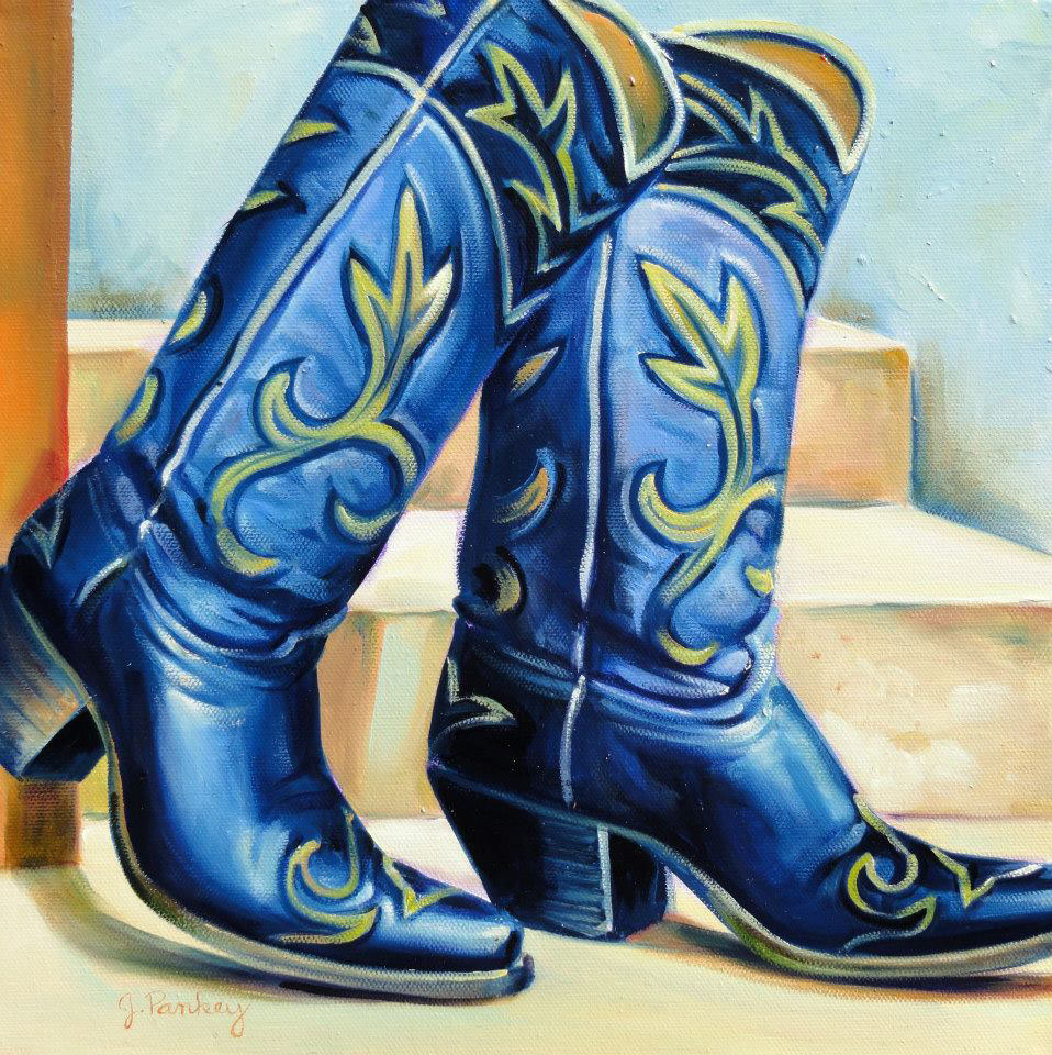 Cowboy Boots Painting by Jill Pankey