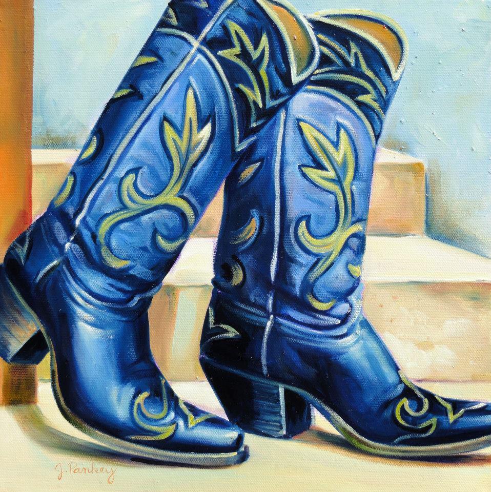 Cowboy Boots Painting by Jill Pankey